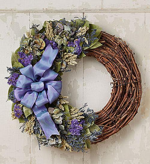 GET 25% OFF ~ Show Stopping 18 Inch Preserved Blue Jewel Luna Wreath ~ SAVING YOU OVER $17!