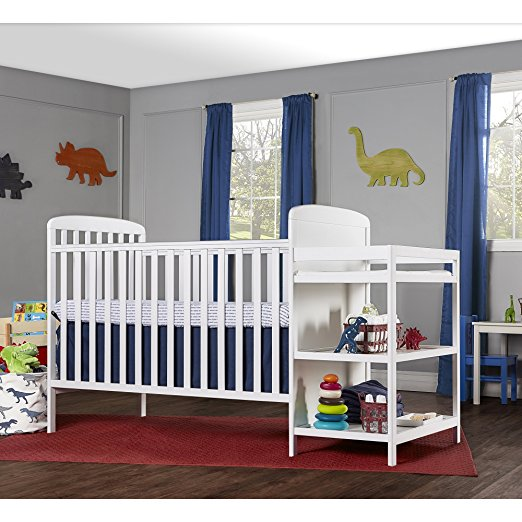 GET 34% OFF + FREE SHIPPING ~ Dream On Me, 4 in 1 Full Size Crib and Changing Table Combo in White ~ SAVING YOU $62!