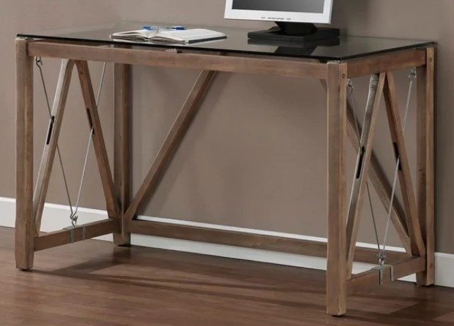 GET 49% OFF + FREE SHIPPING ~ Carbon Loft Glass Top Cable Desk ~ SAVING YOU $163!