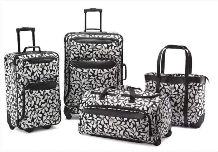 GET 67% OFF & FREE SHIPPING ~ American Tourister Valencia 4-Piece Luggage Set with Tote ~ SAVING YOU $175